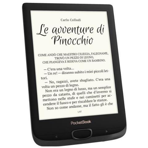 """PocketBook Lettore E-Book 6"""" Basic Lux 2 Risoluzione in HD 758 × 1024 pixel Wi-Fi Colore Nero"""
