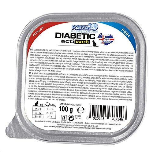 Forza10 alimento Umido per gatti con Controllo diabete, 1er Pack (1 X 3.2 kg)