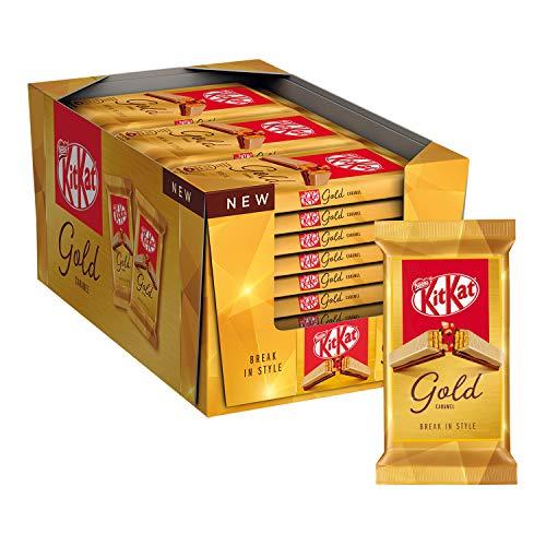 27x Kitkat Gold Snack di Wafer Ricoperto di Cioccolato Bianco al Caramello