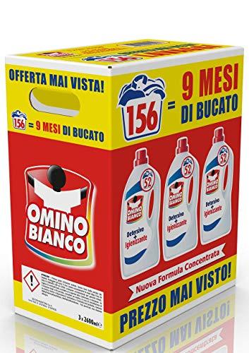 3x 52 lavaggi Omino Bianco - Igienizzante