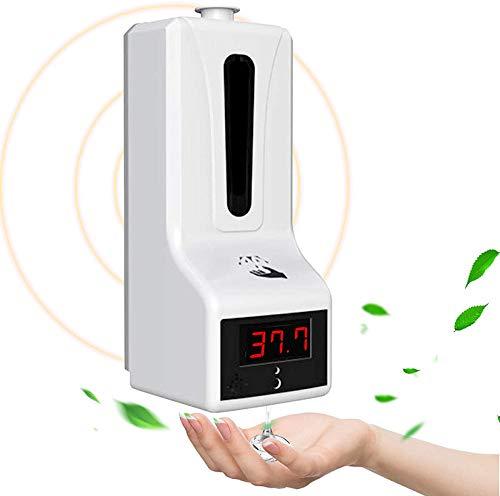 Misurazione Automatica della Temperatura Senza Contatto Erogatore di Sapone, Disinfezione 2 in 1 700ml,