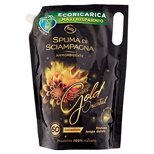 Spuma di Sciampagna Ecoricarica Ammorbidente Concentrato Secrets Gold Oriental 60 Lavaggi - 1500 ml