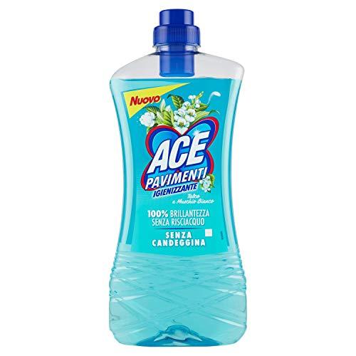 Ace+ Pavimenti Igienizzante Senza Candeggina Talco E Muschio Bianco 1000 Ml [ 16 Litri ]