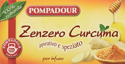 Pompadour Infuso Zenzero Curcuma - 20 filtri - (confezione da 3)