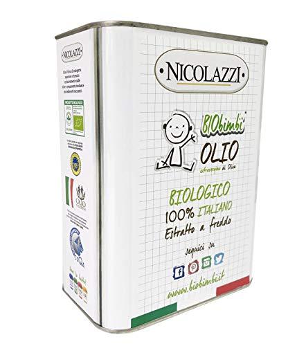 BioBimbi Olio Extravergine di Oliva per Allattamento Neonati e Svezzamento ricco di Omega 3 e 6 e Vitamine Oil Baby Food 2 litri