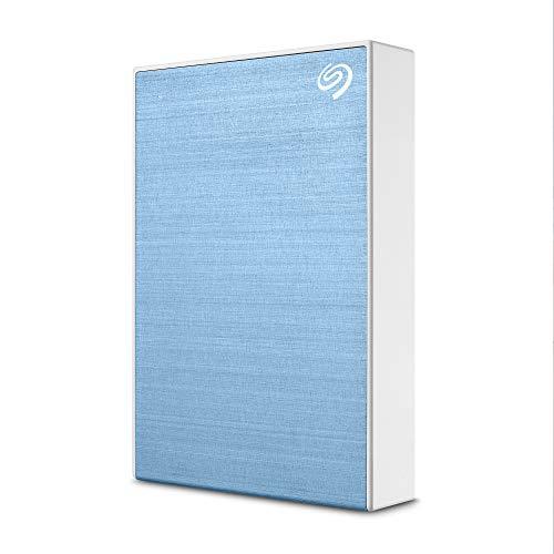 Seagate One Touch, 4 TB, disco rigido esterno, azzurro, USB 3.0, PC,