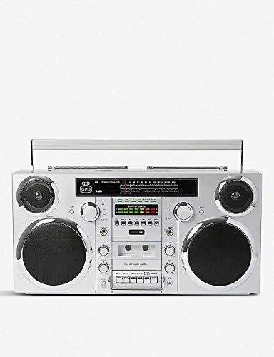 Errore di prezzo GPO BROOKLYN 80 anni Boombox con Bluetooth, CD, cassette, USB e radio DAB +