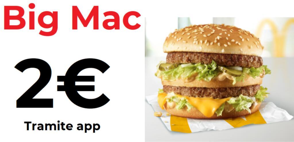 Big Mac a soli 2€ - tramite app