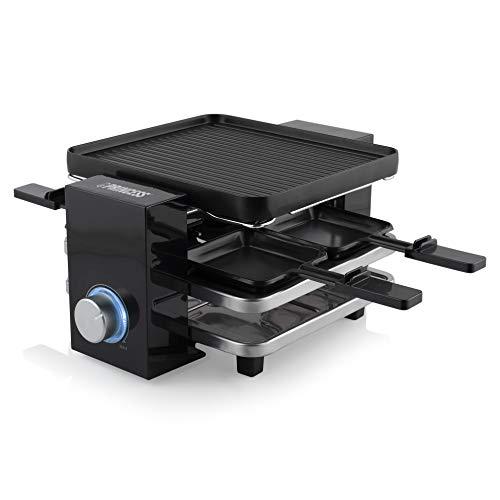 Raclette per 4 Persone Piano Black, 700 W