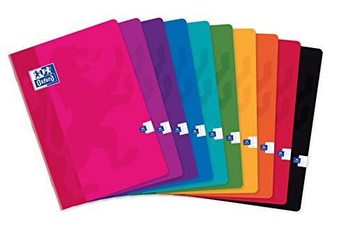 Lotto di 40 quaderni Color Life A4, a quadretti grandi, 96 pagine, con copertina in carta, colori assortiti