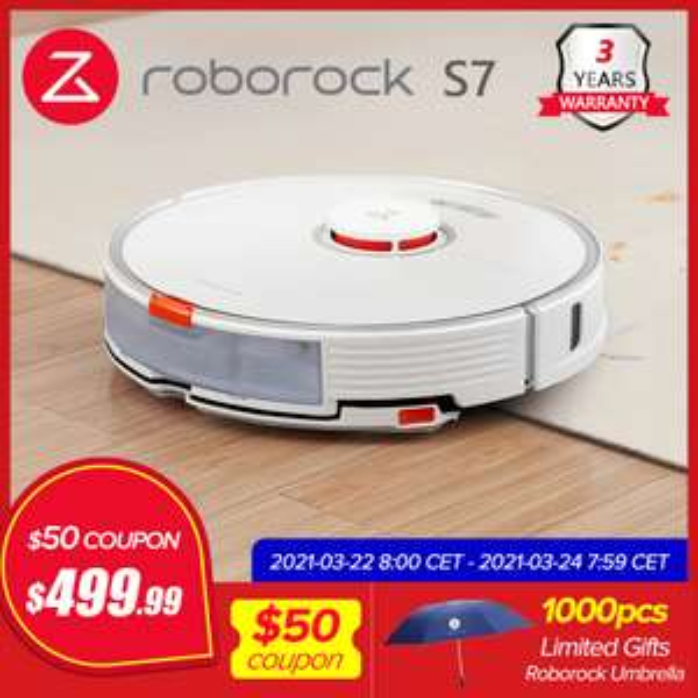 Xiaomi Roborock S7 - Vacuum Cleaner 2 in 1