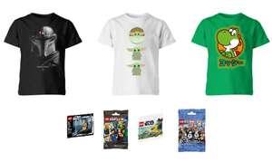 2 T-Shirt Bambini + Set Minifigura Lego da Zavvi