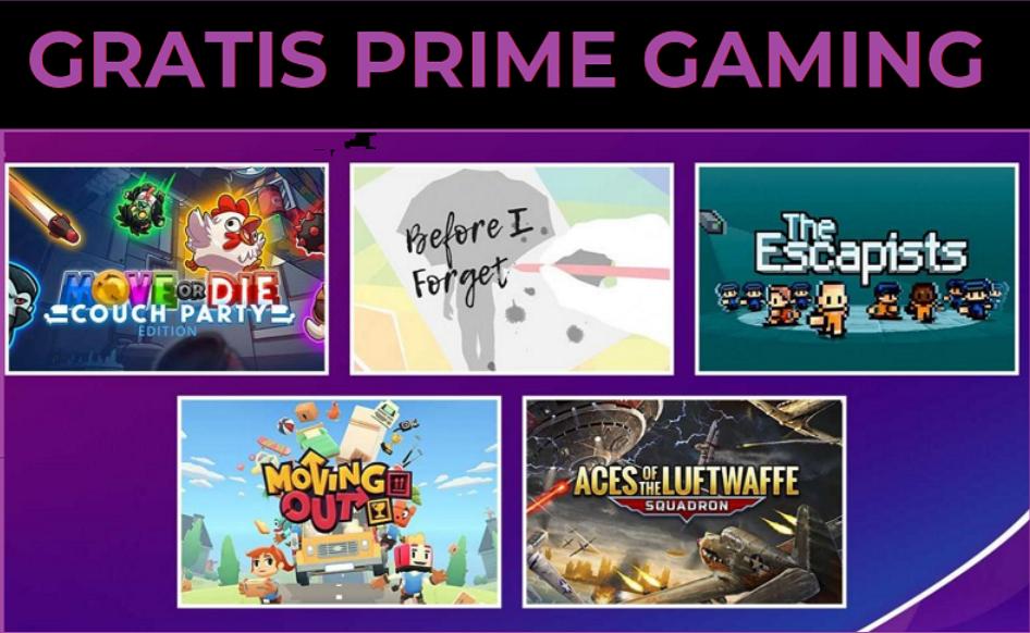 5 giochi Gratis con Prime Gaming