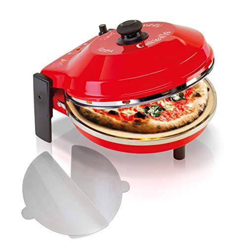 Forno Pizza con pietra refrattaria 400 gradi Resistenza circolare ( Pietra Refr. 32 CM + 2 Palette Alluminio)