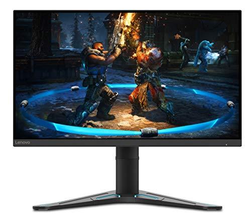"""Lenovo G27-20 Monitor, Display 27"""" Full HD (1920x1080), Bordi Ultrasottili, FreeSync, 1ms, 144Hz, Cavo DP, Input HDMI + DP, Raven Black"""