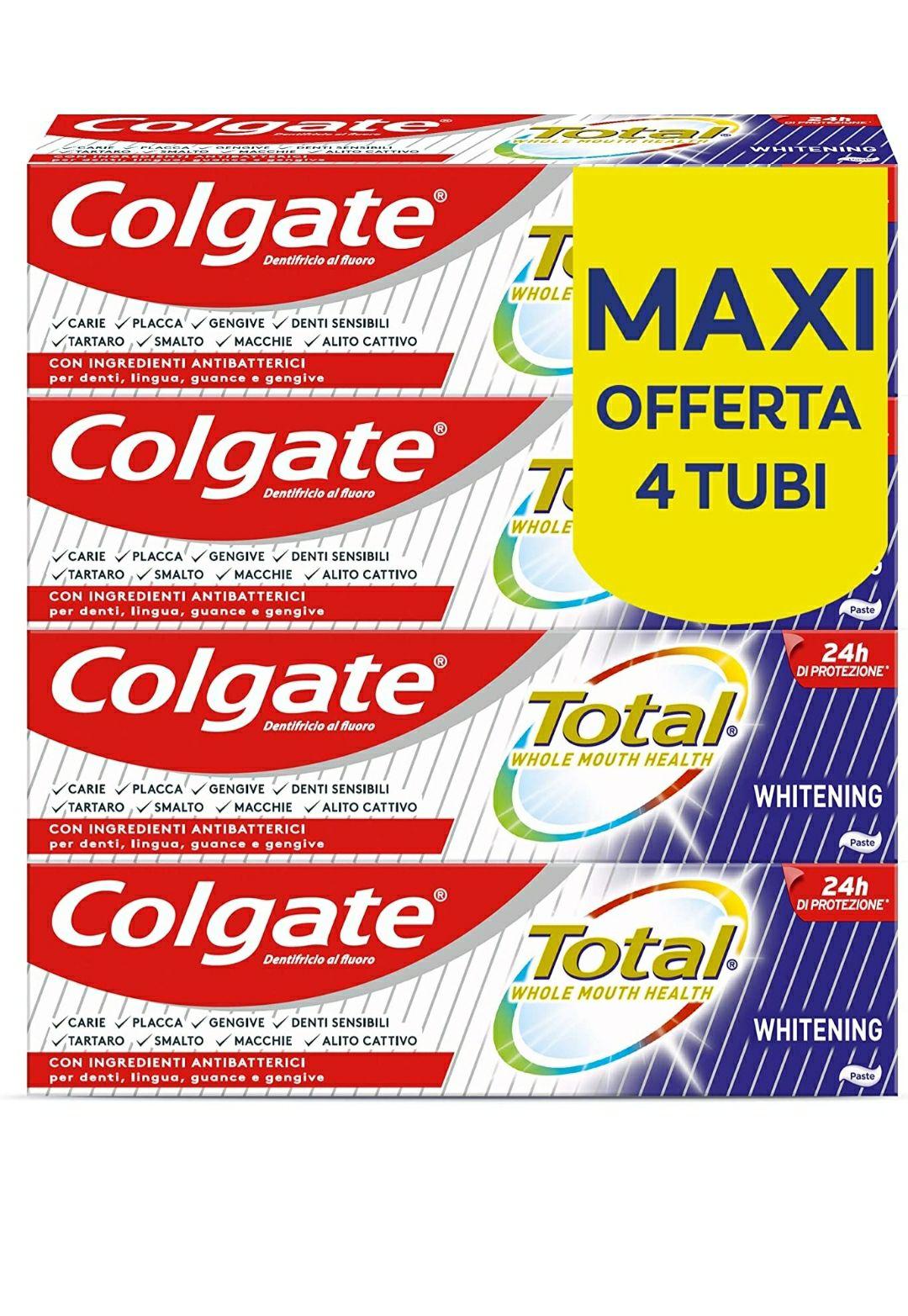 Colgate Total Dentifricio Sbiancante, 4 x 75 ml
