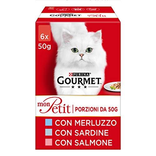 PURINA GOURMET MON PETIT Umido Gatto 48 buste da 50g ciascuna (8 confezioni da 6x50g)