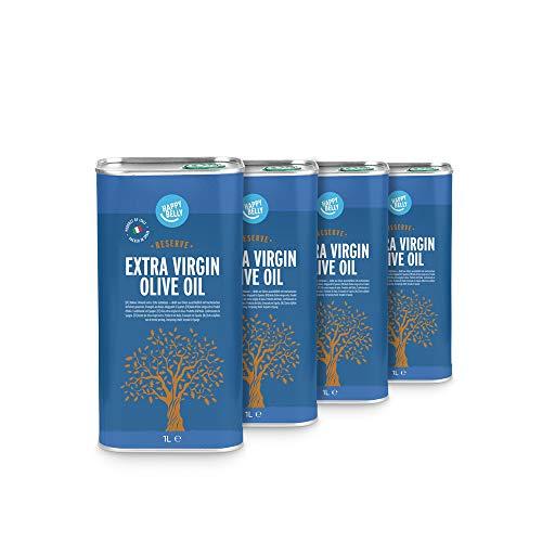 Marchio Amazon - Happy Belly 100% Olio extra vergine di oliva italiano - Riserva (4 x 1L)