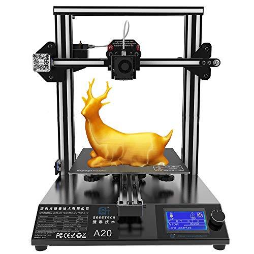GEEETECH A20 stampante 3D con base di edificio integrata, rilevatore di filamenti e funzione di riattivazione