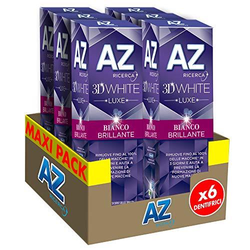 6x75ml Az 3D White Luxe Bianco Brillante con Azione Sbiancante
