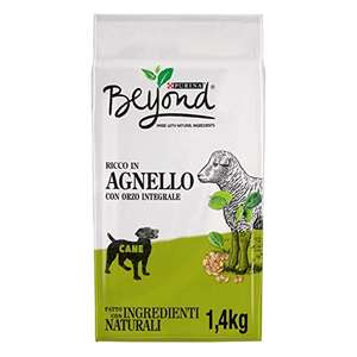 6 Sacchi da 1.4 kg BEYONDCrocchette Cane Ricco in Agnello con Orzo Integrale