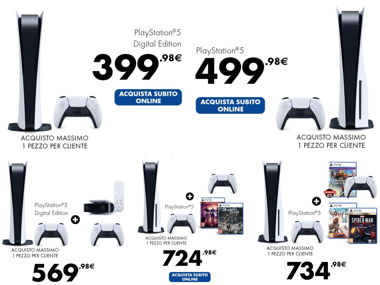 PlayStation 5 disponibile dalle 15:30 Gamestop