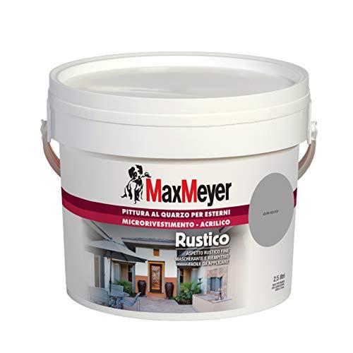 MaxMeyer Pittura per esterni Quarzo Rustico GRIGIO 2,5 L