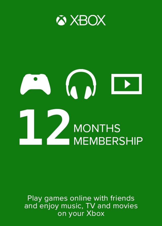 Xbox Live Gold 12 Mesi Membership