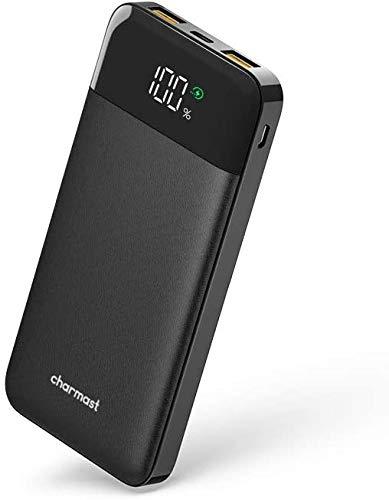 Charmast Power Bank 10400mAh, Caricatore Portatile Carica Rapida USB C 18W PD & USB A QC 3.0