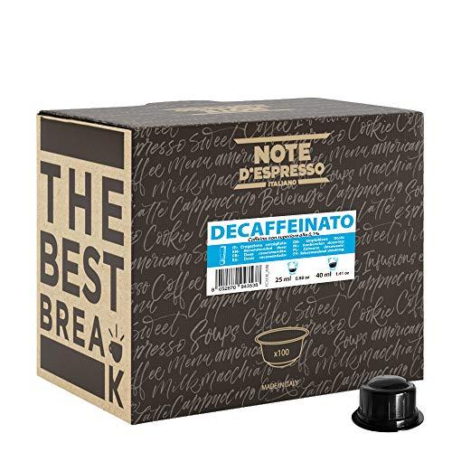 Confezione da 100 x 6.8 G Note D'Espresso DECAFFEINATO Capsule Di Caffè per Macchine Caffitaly