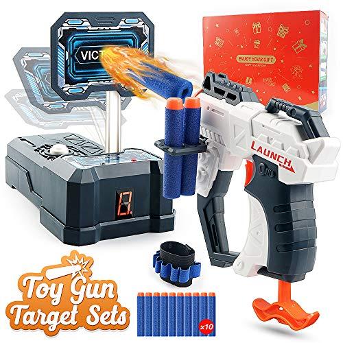 Giocattolo Pistola a Proiettile in Schiuma e Set di Tiro al Bersaglio Digitale per Nerf Guns,