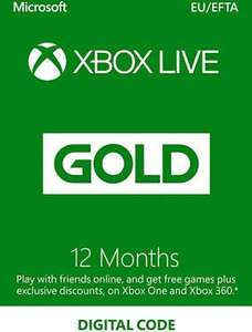 Xbox Live Gold Abbonamento 12 mesi 39.9€