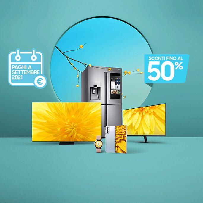 Samsung sconti del 50% +10% su tutto