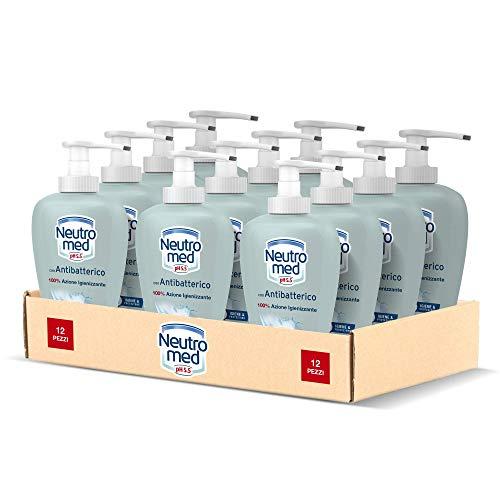 Neutromed 12 pezzi x 300 ml Detergente Mani Liquido con Antibatterico Naturale, Sapone Mani 100% Azione Igienizzante