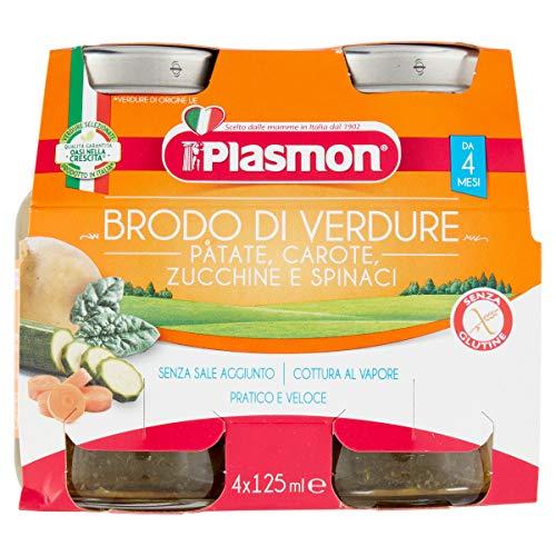 Plasmon Brodo di Verdure, Patate, Carote, Zucchini, Spinaci, 24 x 125 g