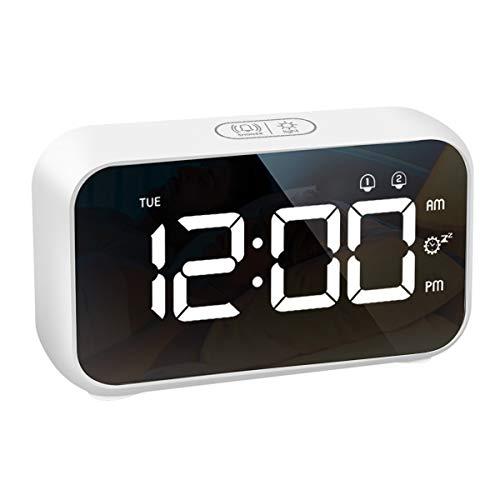 LATEC Sveglia, Orologio Digitale Sveglia LED Display da Comodino