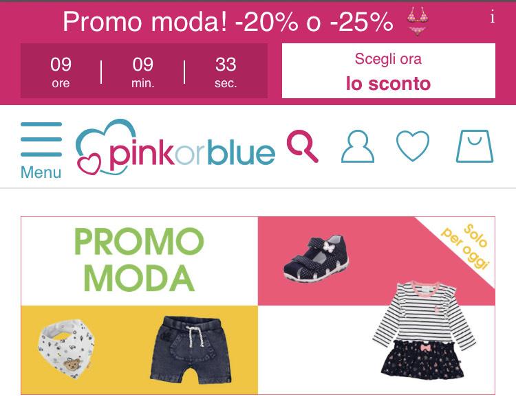 Promo moda! -20% o -25% pinkorblue