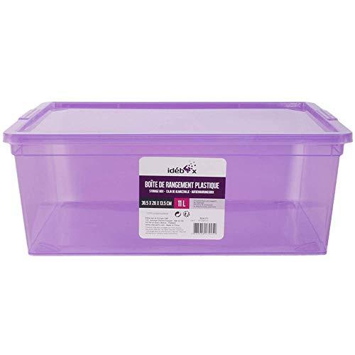 Je Cherche une Idée scatola Portaoggetti in Plastica, 11 L, 36.5 cm x 26 cm x 13.5 cm, Viola