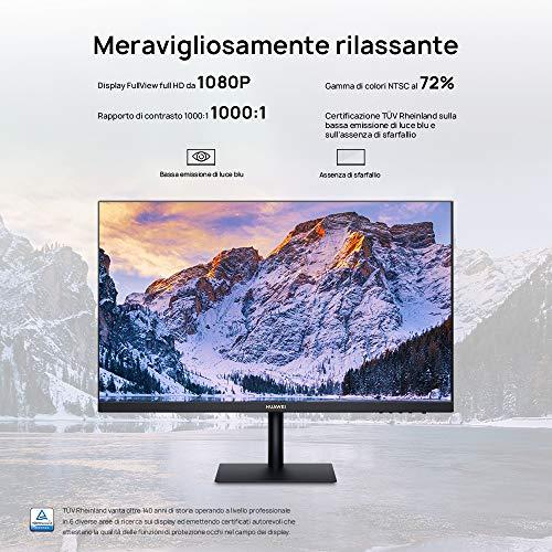"""HUAWEI Display 23.8"""", Monitor Full HD, Display FullView da 1080P, Gamma di colori al 72% NTSC, Cornici da 5,7 mm"""