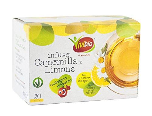 6x20 filtri Vivibio Infuso Camomilla E Limone Bio