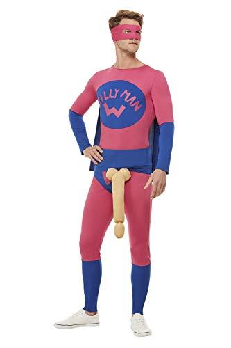 Costume da supereroe Willyman Tg:XL