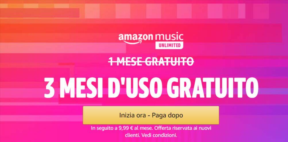 Amazon Music Unlimited - 3 Mesi GRATIS