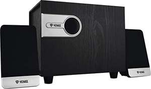 Altoparlanti PC Multimedia 2.1 con subwoofer in legno