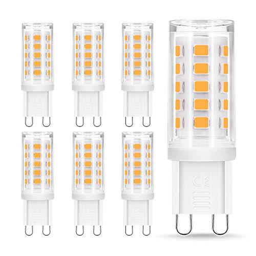 6x Lampadine G9 LED, 5W Equivalenti a 40 W Bianco Caldo/Freddo