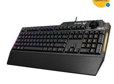 ASUS Tastiera Gaming USB TUF Gaming K1 RGB Retroilluminata Colore Nero (Layout Italiano)