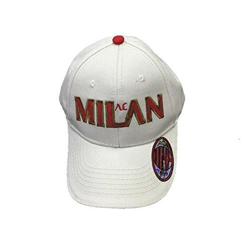 Cappello Uomo Baseball A.C. Milan Calcio Cappellino con Visiera