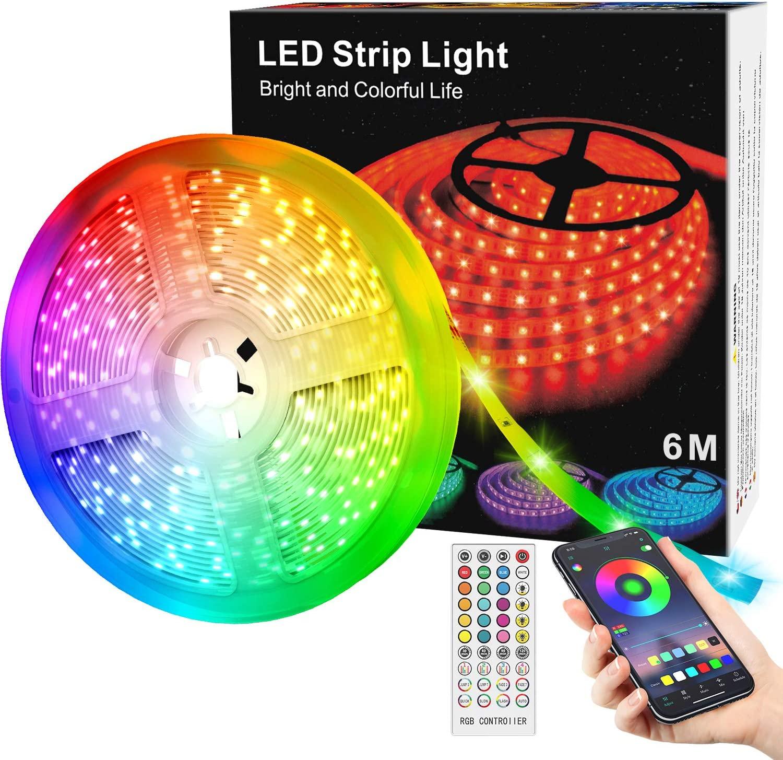 Striscia LED RGB 6MT Bluetooth - App 5.9€