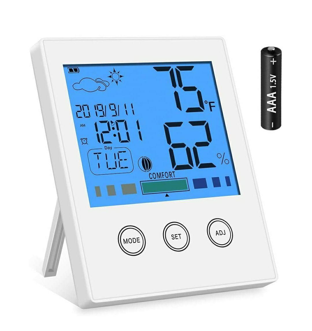 Newdora - Termometro e igrometro digitale con retroilluminazione