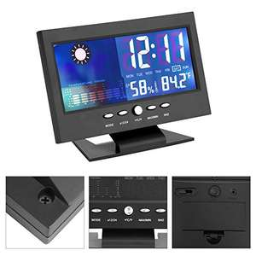 Orologio Digitale, indicatore Digitale di umidità della Temperatura, Calendario Meteo, previsioni Meteo, Cucina - Touch Screen