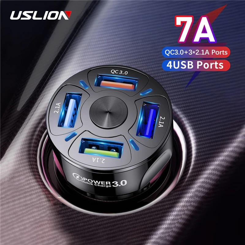 Caricatore Auto Ricarica Rapida 48W - 4 porte USB